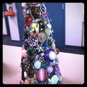 One-of A-kinda jewelry tree. Homemade